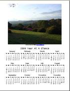 Free Printable 2009 Year at a Glance Photo Calendar