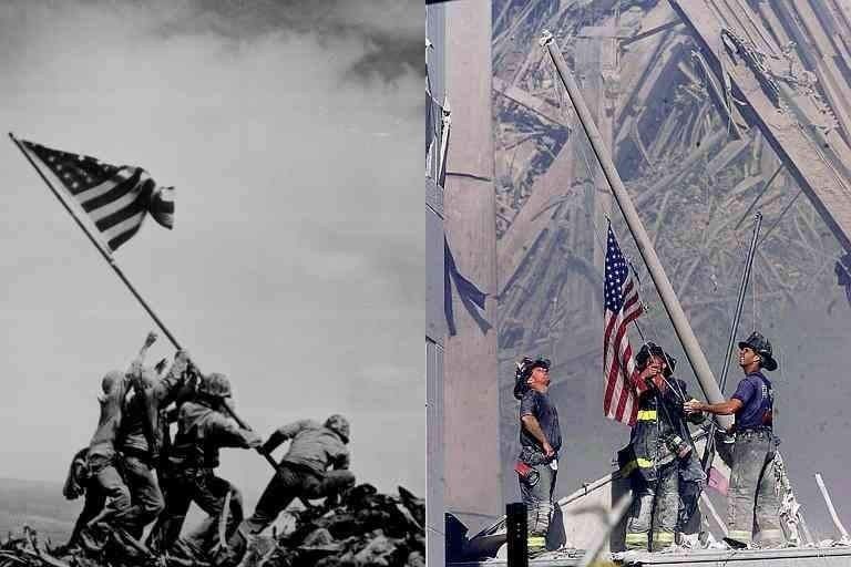 ... Iwo Jima and Ground Zero Collage - Click this image for an enlarged view